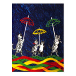 Cats in the Rain Post Card