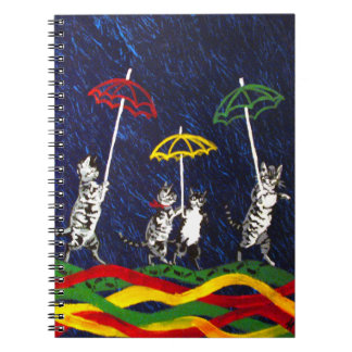Cats in the Rain Spiral Note Books