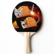 Cats inside space tacos ping pong paddle