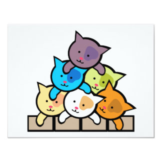 Cats 4.25x5.5 Paper Invitation Card