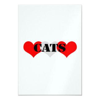 "Cats 3.5"" X 5"" Invitation Card"