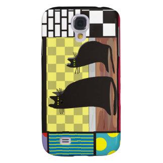 "Cats iPhone 3 Hardcase ""Best Friends"" Samsung S4 Case"