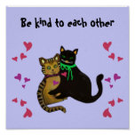 Cats Kindness Saying Print