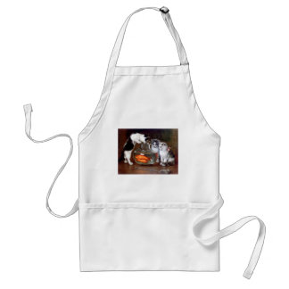 Cats Kittens Fishing in a Fish Bowl painting Adult Apron