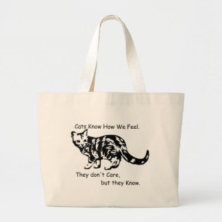 Cats Know Large Tote Bag