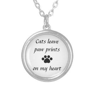 Cats Leave Paw Prints - Necklace