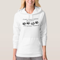 Cats Leave Paw Prints On Your Heart Hoodie