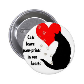 cats_leave_pawprints2.jpg 2 inch round button