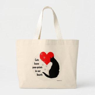 cats_leave_pawprints2.jpg large tote bag