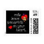Cats leave pawprints on your heart. stamp