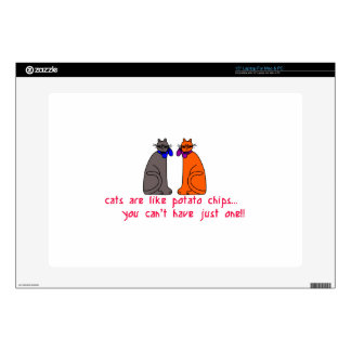 Cats Like Chips Decal For Laptop