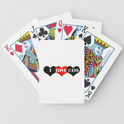Cats Love Bicycle Playing Cards