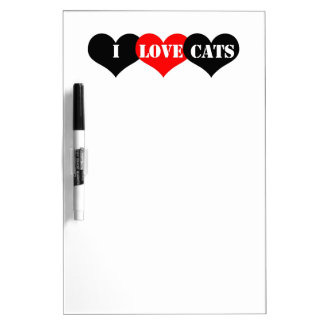 Cats Love Dry-Erase Whiteboards