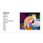 Cats Love Fresh Laundry Profile Card Double-Sided Standard Business Cards (Pack Of 100)