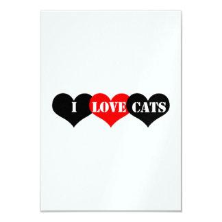 "Cats Love 3.5"" X 5"" Invitation Card"