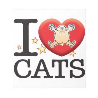 Cats Love Man Notepad