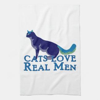 Cats Love Real Men Hand Towels