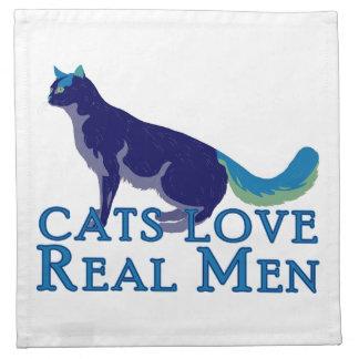 Cats Love Real Men Napkin