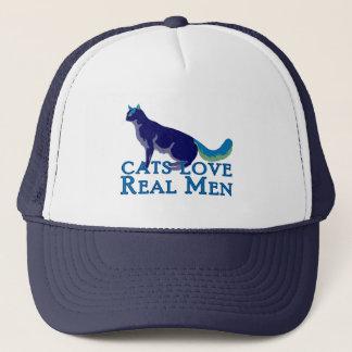Cats Love Real Men Trucker Hat