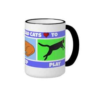 Cats Love to Eat Sleep Play Mug