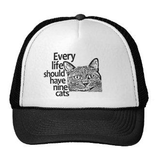 Cats Make Life Better Trucker Hat