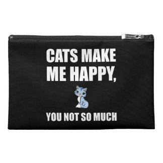 Cats Make Me Happy You Not So Much Funny Travel Accessory Bag