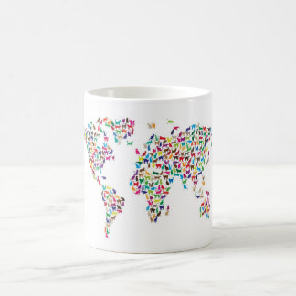 Cats Map of the World Map Classic White Coffee Mug