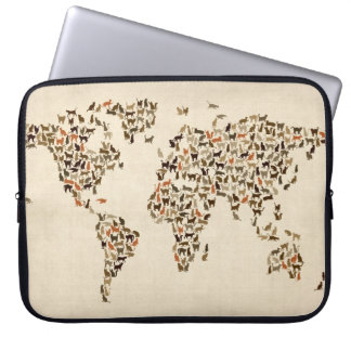 Cats Map of the World Map Computer Sleeve