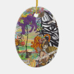 Cats May Look at a Queen Onament Double-Sided Oval Ceramic Christmas Ornament