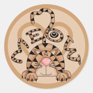 Cat's Meow Classic Round Sticker