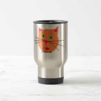 Cat's Meow cup 15 Oz Stainless Steel Travel Mug