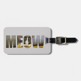 Cat's Meow Luggage Tag