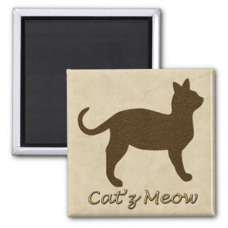 Cat's Meow 2 Inch Square Magnet
