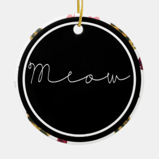 Cats Meow Double-Sided Ceramic Round Christmas Ornament