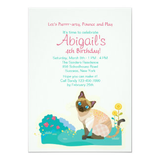Cat's Meow Party Invitation