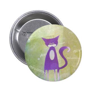 cats meow - pin badge