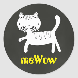 Cat's meWOW Chalk Customizable Good Job Sticker
