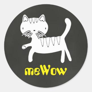 Cat's meWOW Chalk Customizable Good Job Sticker
