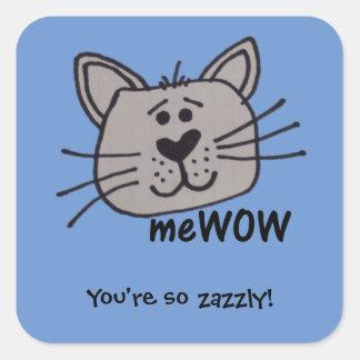 Cat's meWOW Customizable Good Job Sticker Square