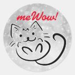 Cat's meWOW Sparkle Customizable Good Job Sticker