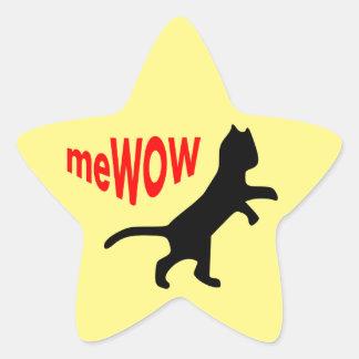 Cat's meWOW Star Great Job Sticker