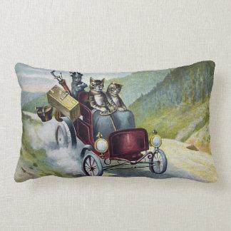 Cats Motoring Through the Catskill Mountains Pillow