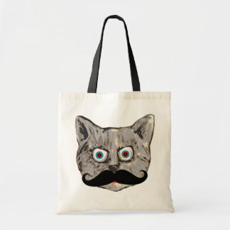 cat's mustache budget tote bag