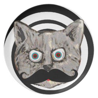 cat's mustache dinner plate