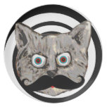 cat's mustache dinner plates
