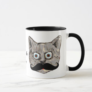 cat's mustache mug