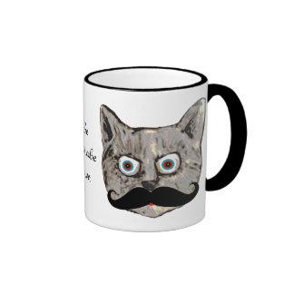 cat's mustache coffee mug