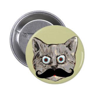 cat's mustache pinback button