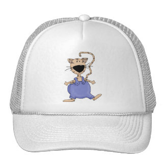 Cats 'n' Dogs · Cat in Overall Trucker Hat