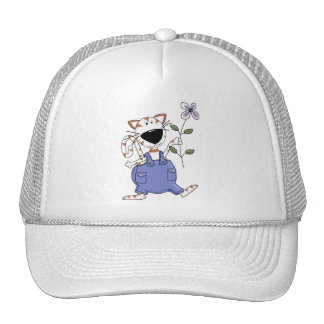 Cats 'n' Dogs · Cat with Flower Trucker Hat